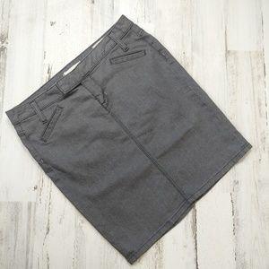 🌿 GAP Limited Edition Gray Denim Jean Skirt